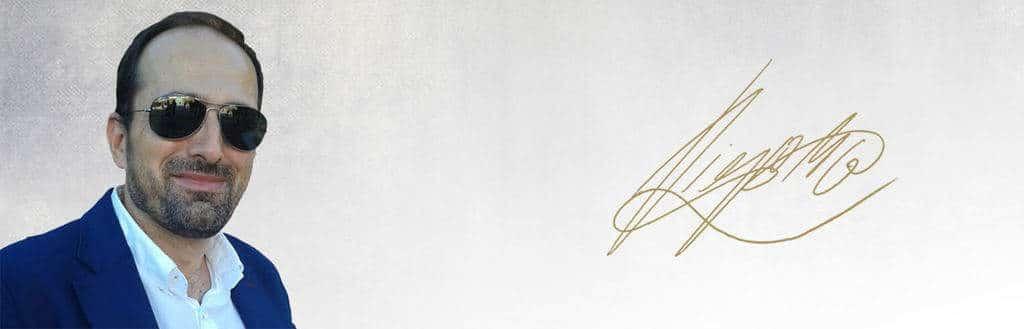 Diego Moldes, foto y firma