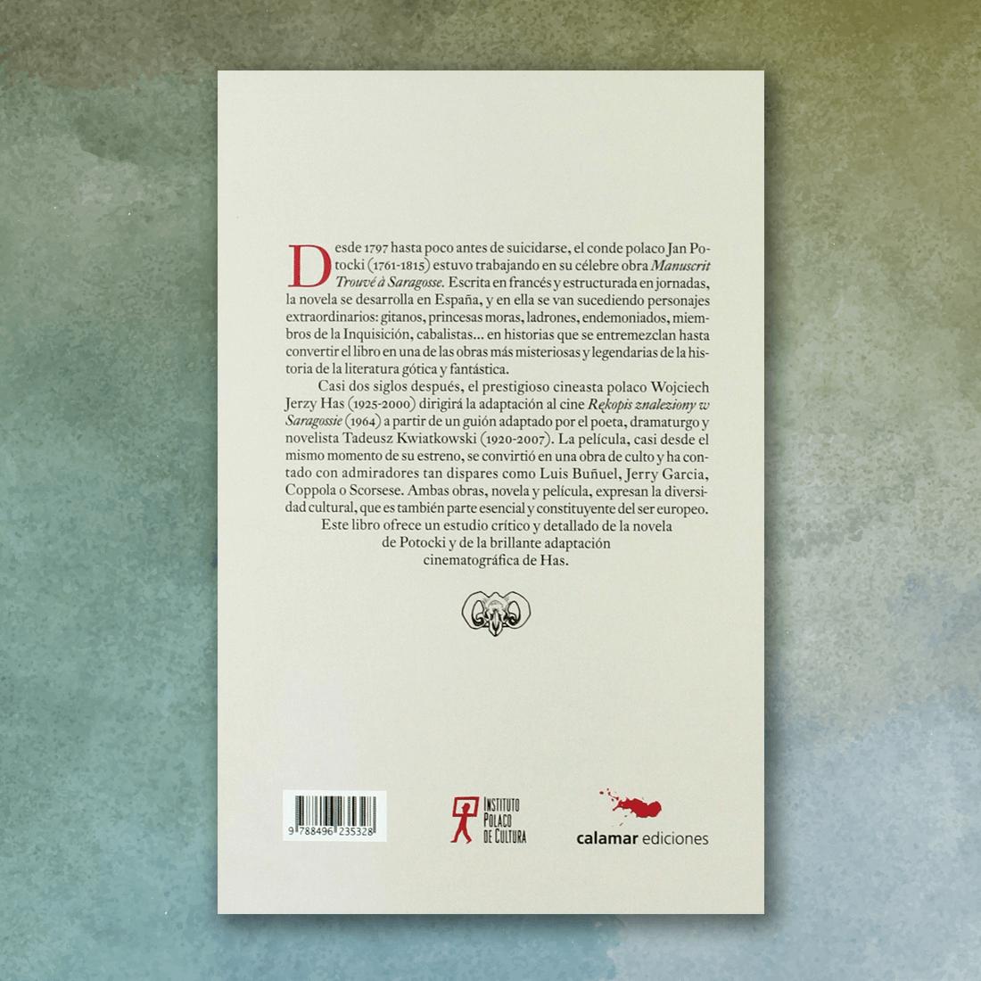El manuscrito encontrado en Zaragoza (Contraportada) - Diego Moldes