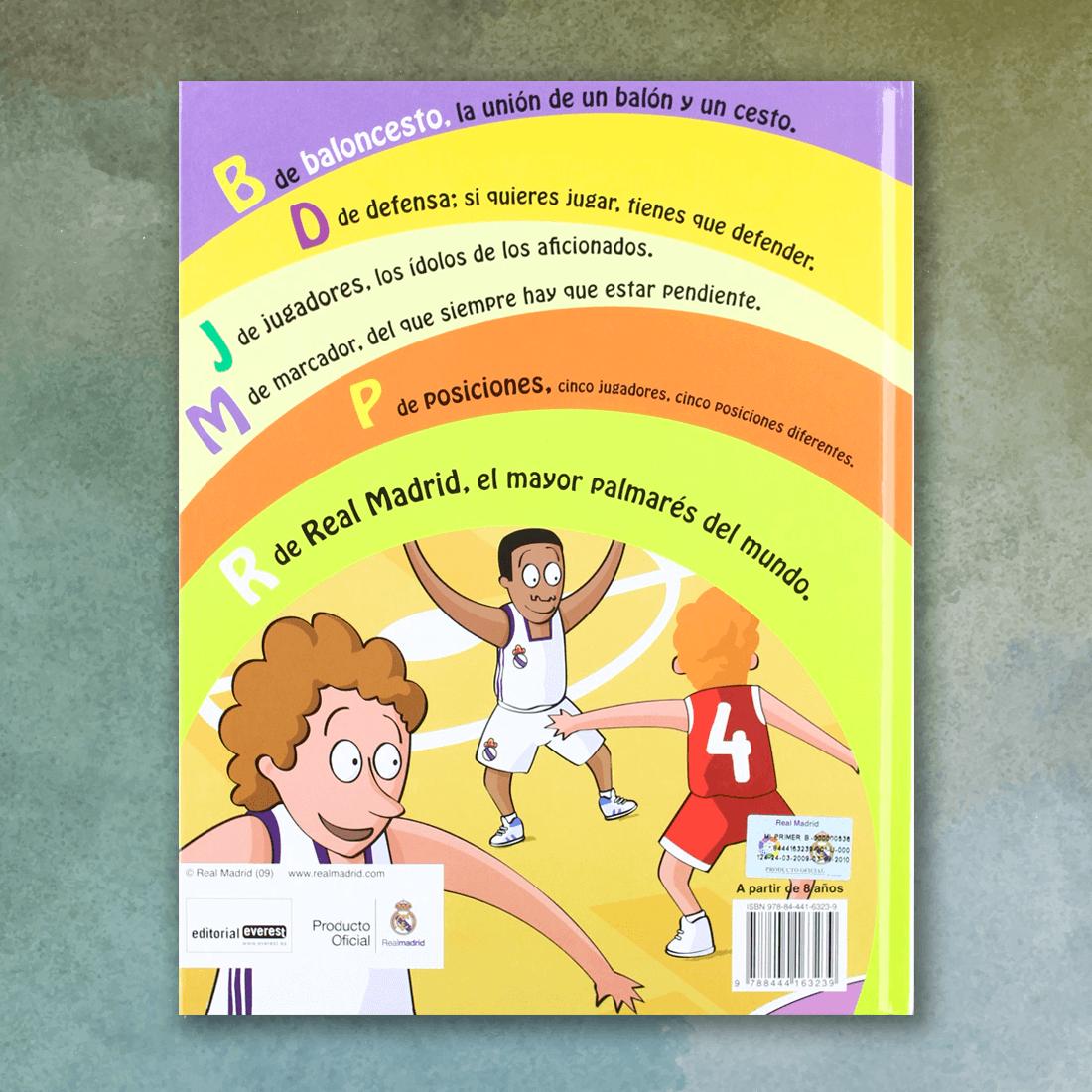 Mi primer libro de baloncesto del Real Madrid (Contraportada) - Diego Moldes