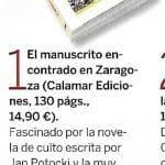 2008-11.Fotogramas, El Manuscrito encontrado en Zaragoza, Pedro Calleja