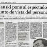 El Correo Gallego, entrevista a Diego Moldes, Roman Polanski, recorte, 27.04.2005