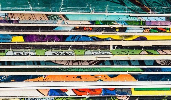 textura vintage de comics